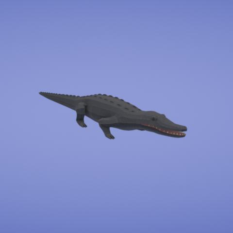 Free 3D print files Black caiman, Colorful3D
