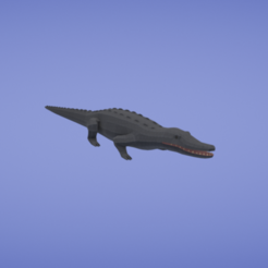 Free 3d print files Black caiman, Colorful3D