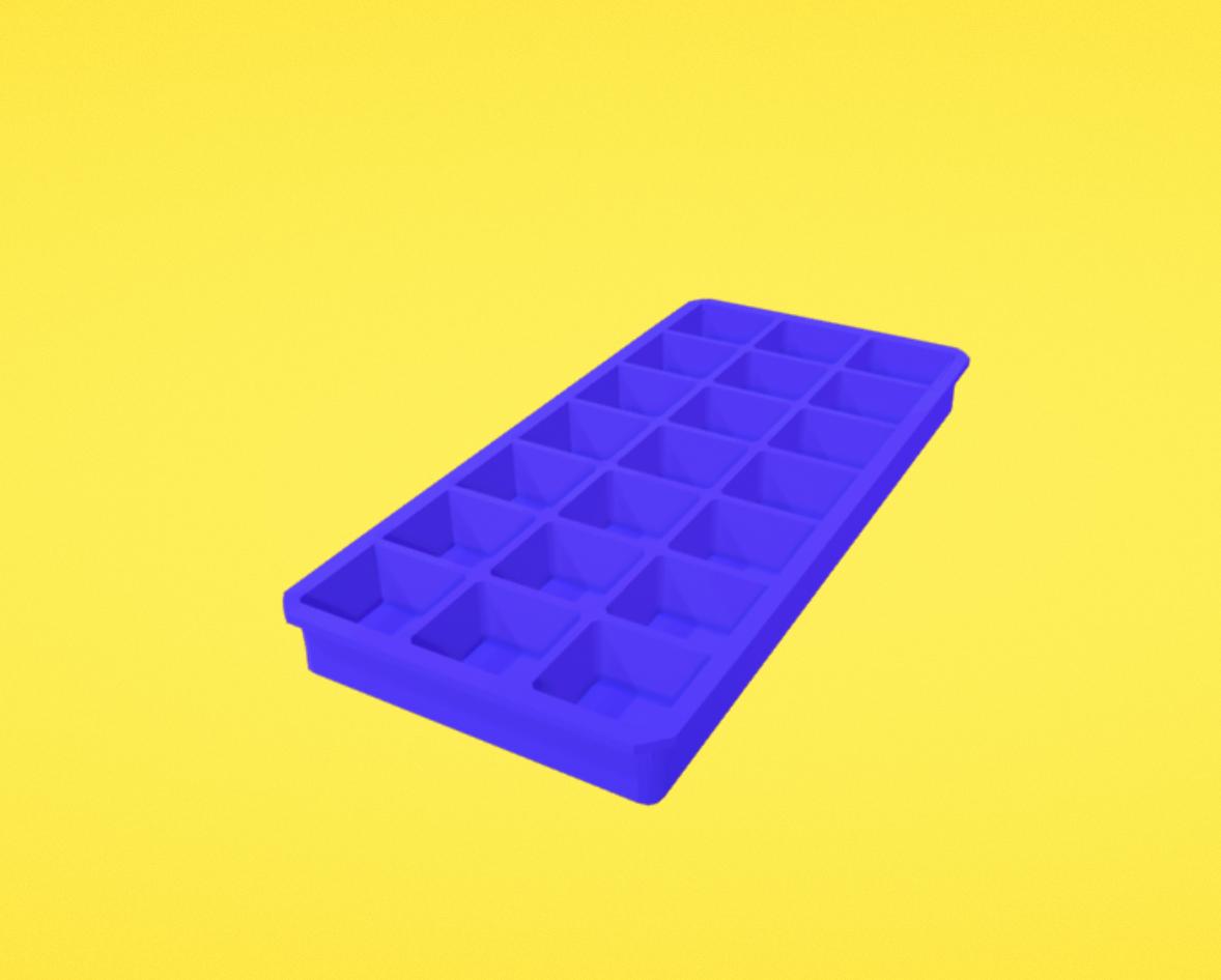 Capture d'écran 2018-01-11 à 17.10.46.png Download free OBJ file Ice cube tray • 3D print model, Colorful3D