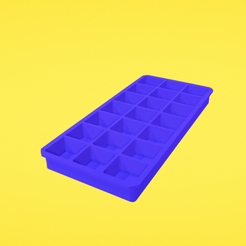 Free 3d model Ice cube tray, Colorful3D