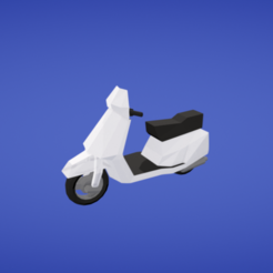 Plan 3D gratuit Scooter, Colorful3D