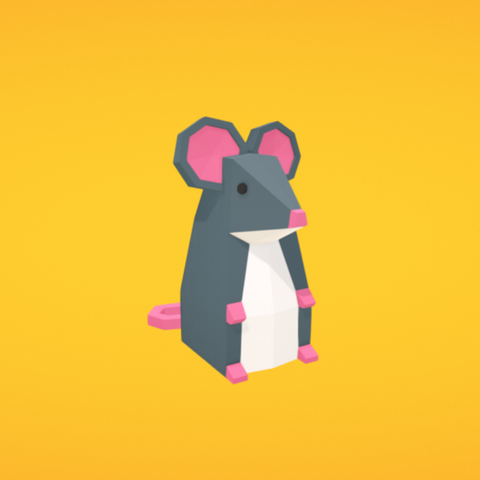 Free STL Mouse, Colorful3D