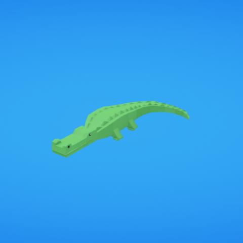 Free 3D printer files Crocodile, Colorful3D