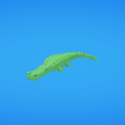 Fichier STL gratuit Crocodile, Colorful3D