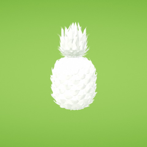 Free Pineapple 3D printer file, Colorful3D