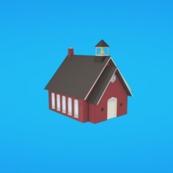 Download free 3D printer model Schoolhouse, Colorful3D