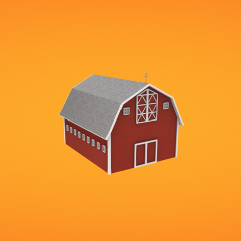 Free 3D file Barn, Colorful3D