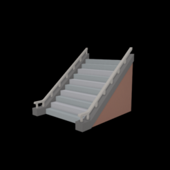 Modelos 3D gratis Escalera, Colorful3D