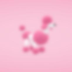 Free stl files Poodle, Colorful3D