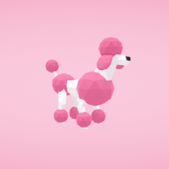 STL gratuit Caniche, Colorful3D
