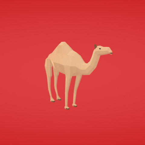 Free Camel 3D printer file, Colorful3D