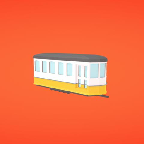 Free 3D printer files Tram, Colorful3D