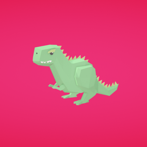 Free 3D file Dinosaur, Colorful3D