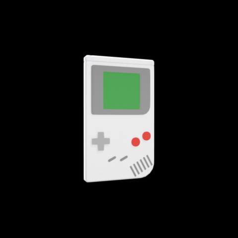 Free Gameboy 3D model, Colorful3D