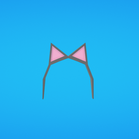 Free STL Cat ears, Colorful3D