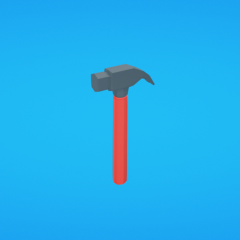 Free 3d printer model Hammer, Colorful3D