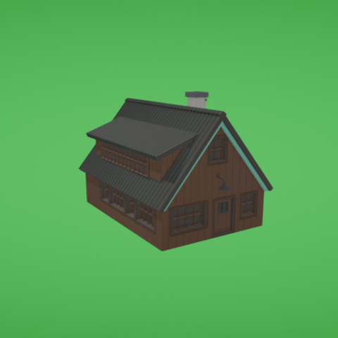 Free 3D file Cabin, Colorful3D