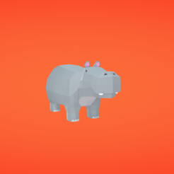 Free 3D model Hippo, Colorful3D