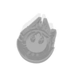 Download 3D model Millennium Falcon cookie cutter, chubi64