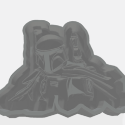 Download 3D print files boba fett cookie cutter, chubi64