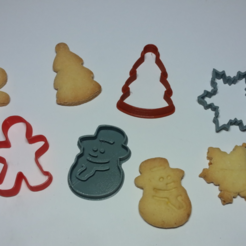 Capture d'écran 2017-11-15 à 17.54.43.png Download free STL file  Christmas Cookie Cutter • 3D printer template, Poly