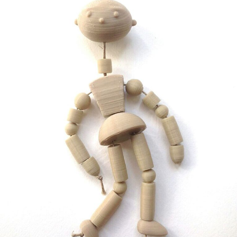 Free 3D printer model Poly Puppet, Poly