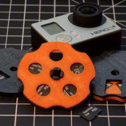 modelo stl gratis Disco de almacenamiento Micro SD, dustnnotes