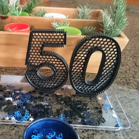 Download free 3D print files 50th Decor, dustnnotes