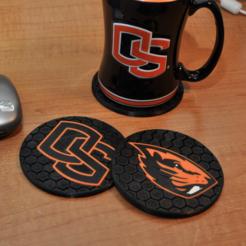 Capture d'écran 2017-11-15 à 10.33.45.png Download free STL file OSU Coasters (Oregon State) • 3D printer template, dustnnotes