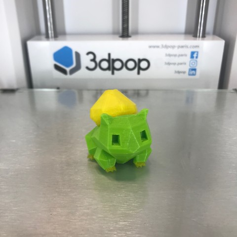 Free 3D printer files Low-Poly Bulbasaur - Multi and Dual Extrusion version, 3dpop