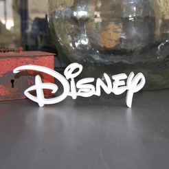 Download free 3D printing designs LOGO DISNEY, 3DNaow