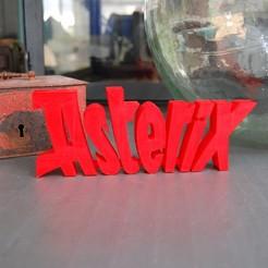 Fichier imprimante 3D gratuit LOGO ASTERIX, 3DNaow