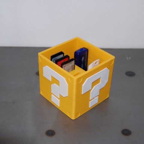 DSC_0183.JPG Download free STL file Mario USB Cube • 3D print design, 3DNaow
