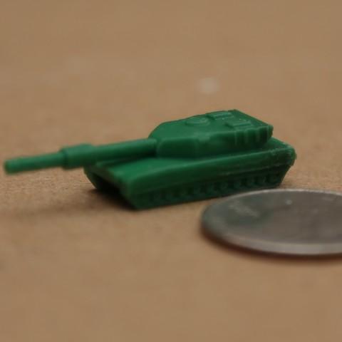 Free M1 Abrams Micro Tank 3D printer file, BestJuleah3D