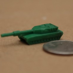4.JPG Download free STL file M1 Abrams Micro Tank • Model to 3D print, BestJuleah3D