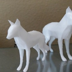 Free 3d printer designs Low Poly Fox, Standing, BestJuleah3D