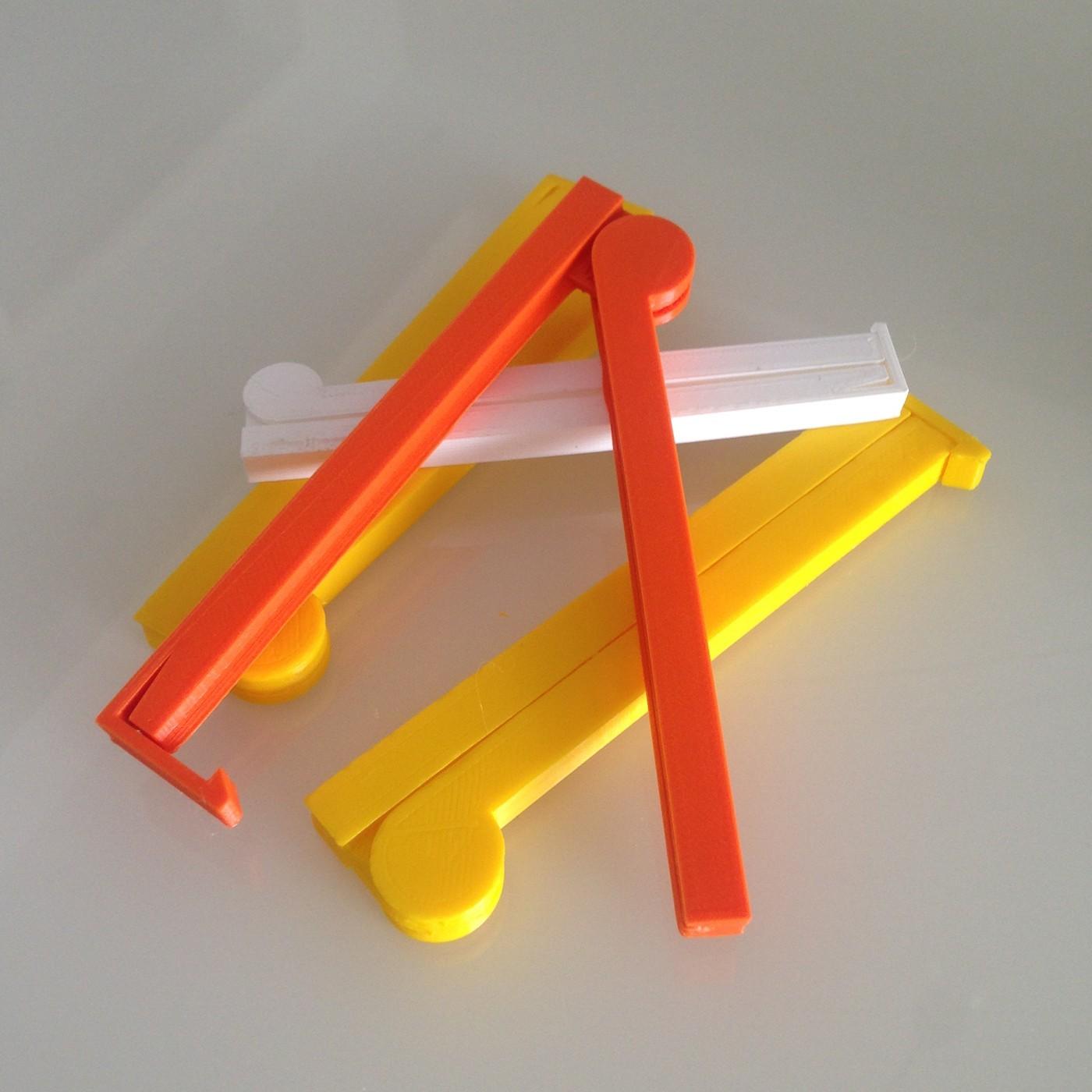 04Clips.jpg Download free STL file BAG CLIP - New 2019 Design • 3D printing design, atornago