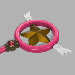 sakura 1.png Download STL file Star Staff Sakura Card Captor (crosier) • 3D print model, CamilaVivanco