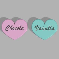 prendedor chocola 3.png Télécharger fichier STL Broche Chocola et Vanille • Modèle pour impression 3D, CamilaVivanco