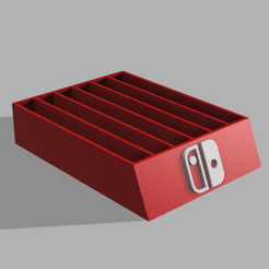 caja juegos nintendo 2.png Download STL file Nintendo box • 3D printing template, CamilaVivanco