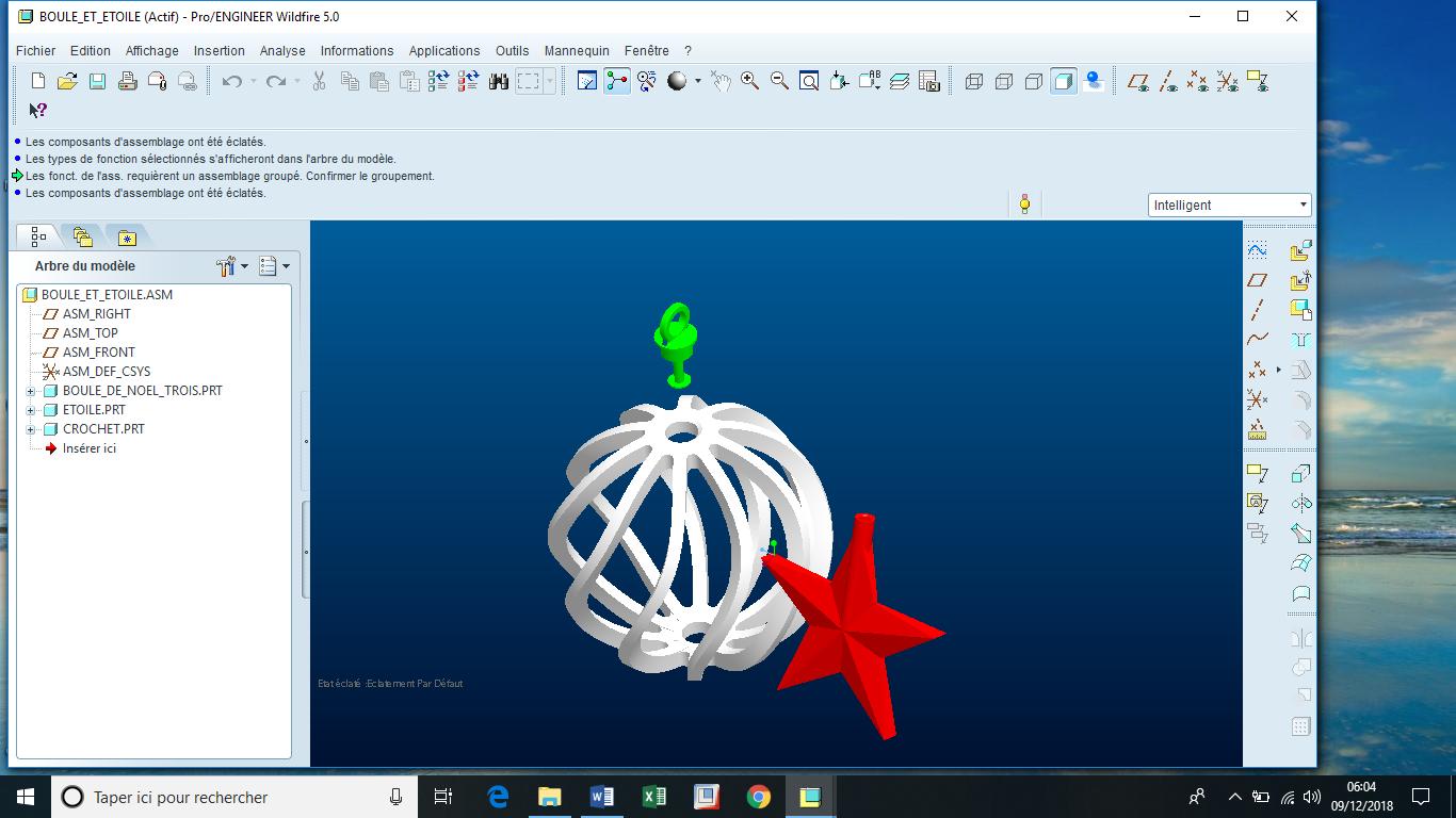 Boule de Noël et étoile.png Télécharger fichier STL gratuit Boule de Noël • Design à imprimer en 3D, Luci