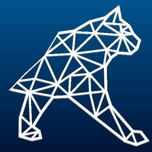 chat_deux (2).jpg Download free STL file WALL CAT DECORATION • 3D printable design, Luci