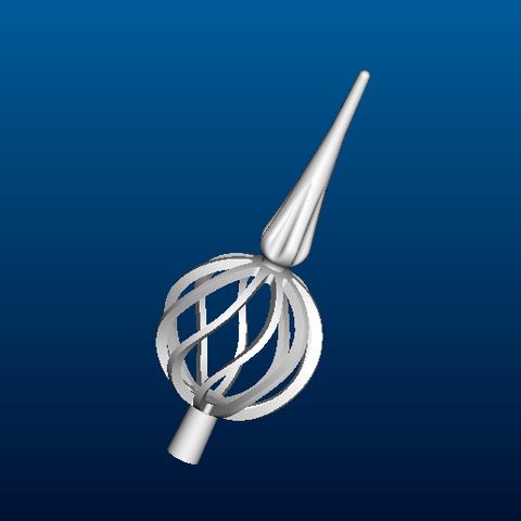 pointe de sapin(copie_modle_prt).png Download free STL file Christmas tree tip • 3D printer template, Luci