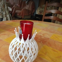 Free stl file candle holder, Luci