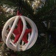Download free 3D printing designs Christmas ball, Luci