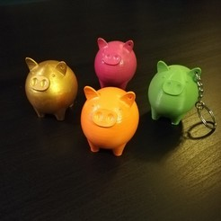STL Keychain little piggy, emah