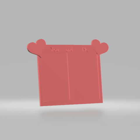Download free 3D printing templates Lovely Frame, CamiSantoro