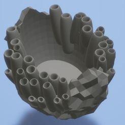 pot3.JPG Download STL file Plant pot coral sea bed rock inspired design water vase - print ready - No support needed • 3D printing design, VarunBansal