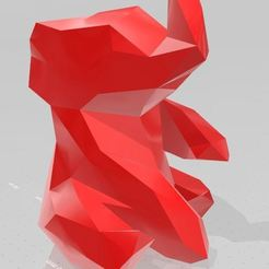 ele2.JPG Download STL file low poly elephant • 3D printable model, VarunBansal