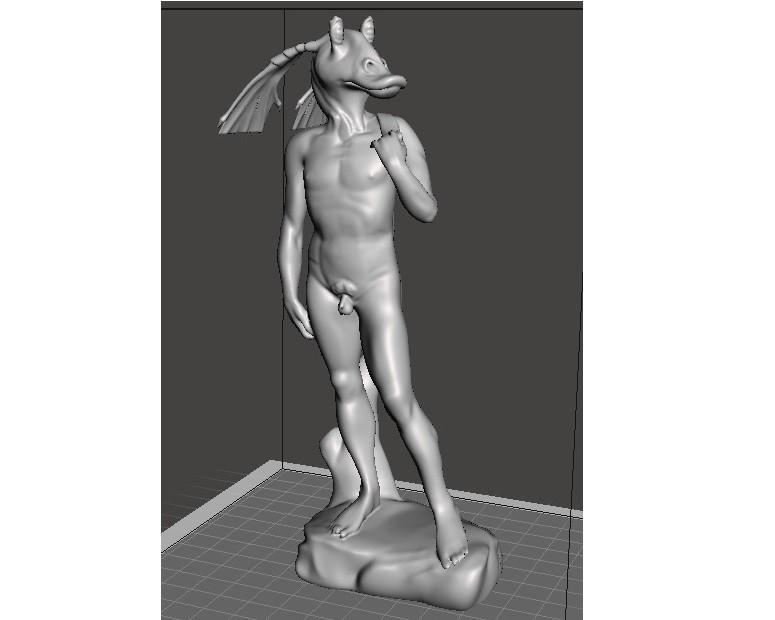 "DavidBinks8.jpg Download free STL file David ""Jar Jar"" Binks • 3D print design, lurgee"